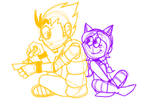 Doodles - Arthur and Flynna by twinscover
