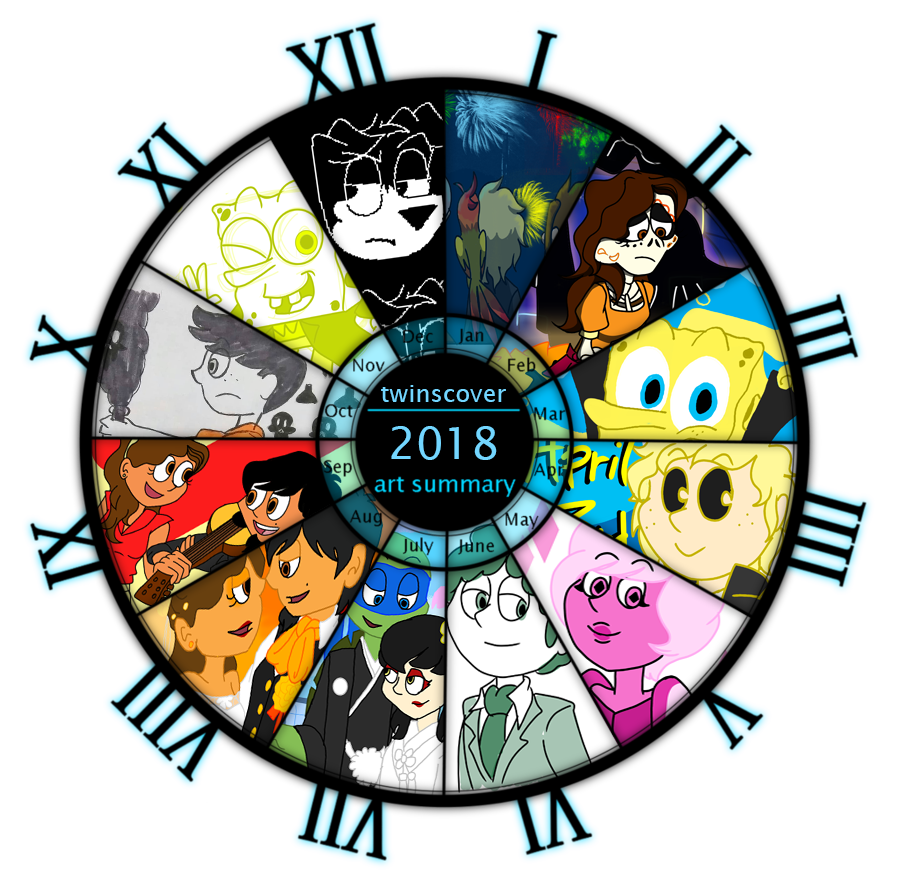My 2018 art summary by twinscover