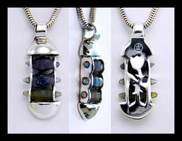 Ternion Sapphire Pendant by manwithashadow