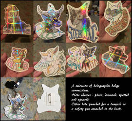-Some Holographic Badge Commissions- by SilvolfStudios