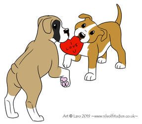 -Valentines Dogs- by SilvolfStudios