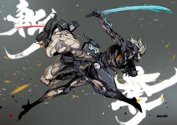 Raiden VS Sam by the-hary