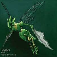 Fav Bug Type: Scyther by MindlessKaos