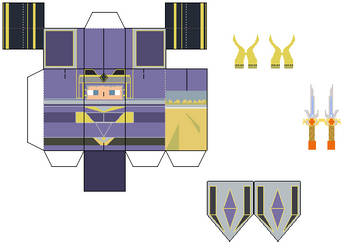 ff1 warrior of light papercraft template by Brick-the-commoner