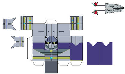 dissidia ff Garland papercraft template by Brick-the-commoner