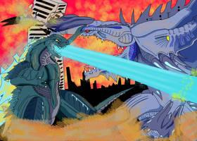 Godzilla Vs. Orga redesigned by Skyegojira
