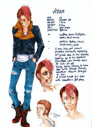 ADAM charactersheet done by paranoidiomatic