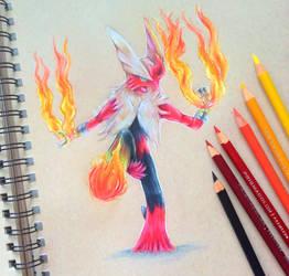 Blaze kick [Commission] by Galactic-sky-99