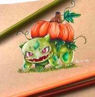 Pumpkin Bulbasaur by Galactic-sky-99