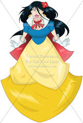 Vector OC For Sale 193 (Snow White) + 09/16 by LPDisney