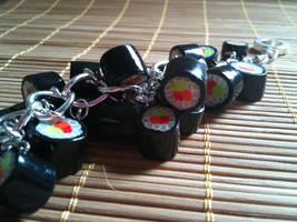 Sushi Charm Bracelet by drrtymagic