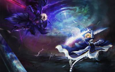 Good VS Evil by shadow-saint1104