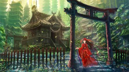 Samurai Girl by shadow-saint1104