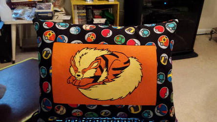 Hand-Painted Arcanine Pillow by Taokyi