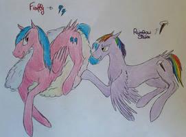 Rainbow Dash's parents by Dawn22Eagle