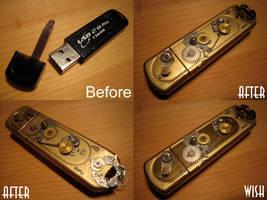 Steampunk USB device by Vanyanie