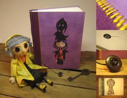 Button your eyes :: Coraline journal/notebook by Vanyanie