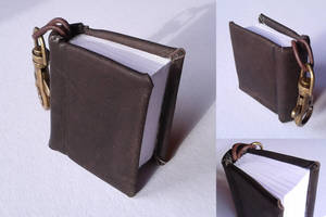 Mini Book Keychain Leather by Vanyanie
