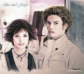 Alice and Jasper by DavidDeb