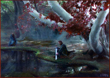 Godswood at Winterfell by DavidDeb