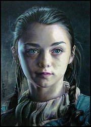 Arya Stark of Winterfell by DavidDeb