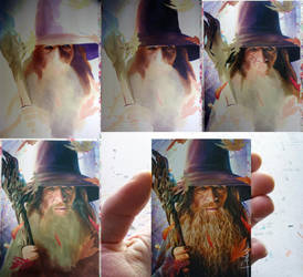 THE HOBBIT -Gandalf WIP by DavidDeb