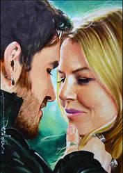 Hook and Emma by DavidDeb