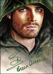 Arrow -autographed by DavidDeb