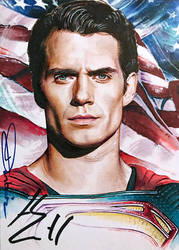 Superman -autographed by DavidDeb