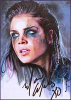 Octavia Blake -autographed by DavidDeb