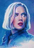 Blonde Widow by DavidDeb