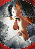 Civil War -Black Widow by DavidDeb