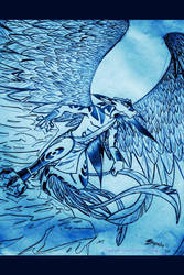 Winged Anthro IV for Prints by lavonne