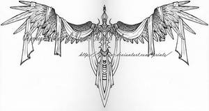 Sword of heaven tattoo design by lavonne