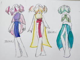 Evolet clothing and color sketches by Shatterd-Sky
