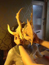 Lord of Vermillion- Helmet WIP by AltriaCosplay