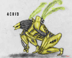Kaiju/Mecha: Acrid by Quinn-Red