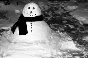 Winter Snowman by LDFranklin