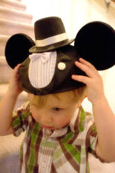 Nephew In Mickey Ears by LDFranklin