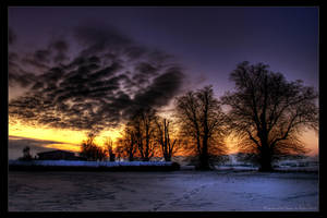 winter evening by stg123
