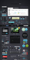 Futurico UI Pro Advanced User Interface Elements by vladimirkudinov