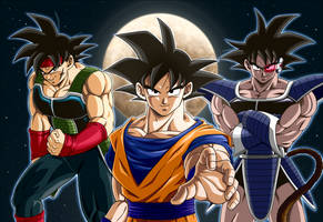Goku, Bardack, Tarles by cruzazul