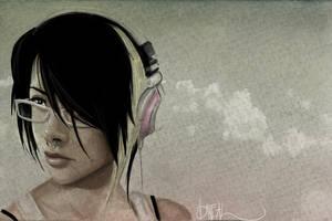 headphones and crossbones by justinnn