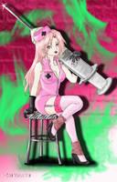 Sexy nurse Haruno Sakura by SenYorumine