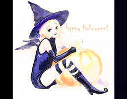 Rin Halloween by 1itt1e-1i