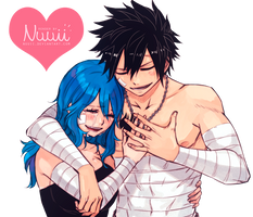 Render #49 - Gruvia (Fairy Tail) by Nuuii