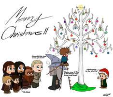 LOTR: Merry Christmas by Kumama