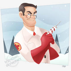 Holiday Medic by furinchime