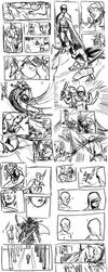 Comic Sketch Page Dump by IHMPCYPAWB