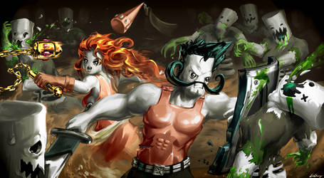 Adam and Eve and Zombies [ Pit People fanart ] by ExCharny